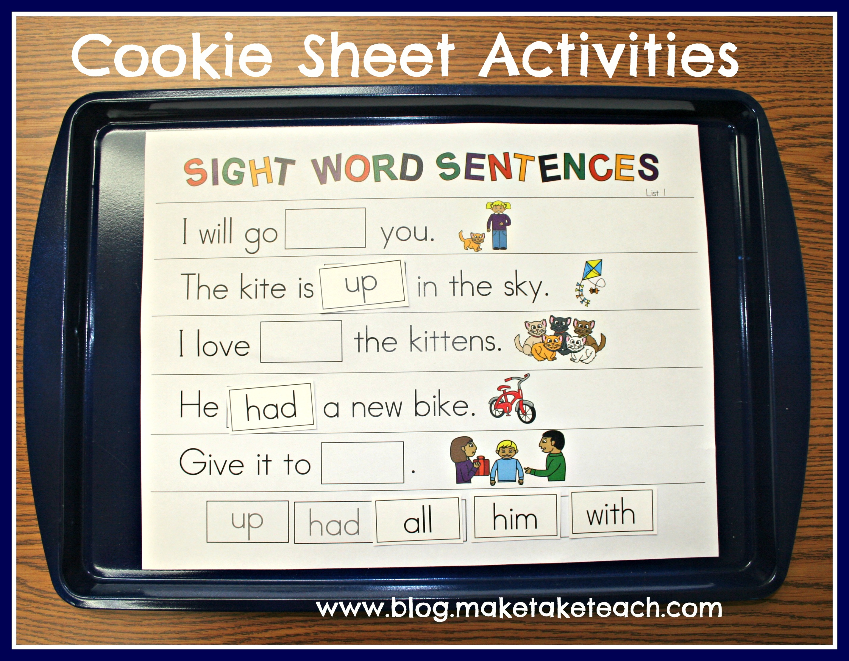 activities  in Word Kindergarten kindergarten word sight Worksheets Sight Pictures